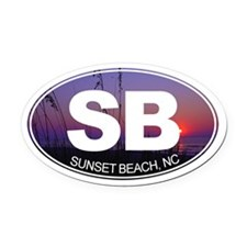 Sunset Beach, NC - Oval Car Magnet
