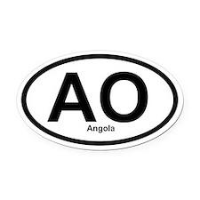 AO Angola Oval Car Magnet
