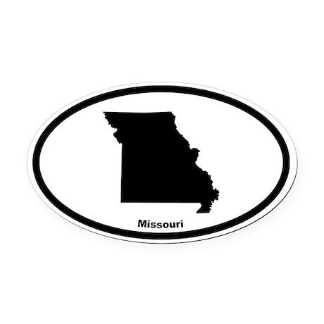 Missouri State Outline Oval Car Magnet