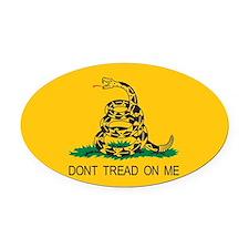 Gadsden Flag - Don't Tread On Oval Car Magnet