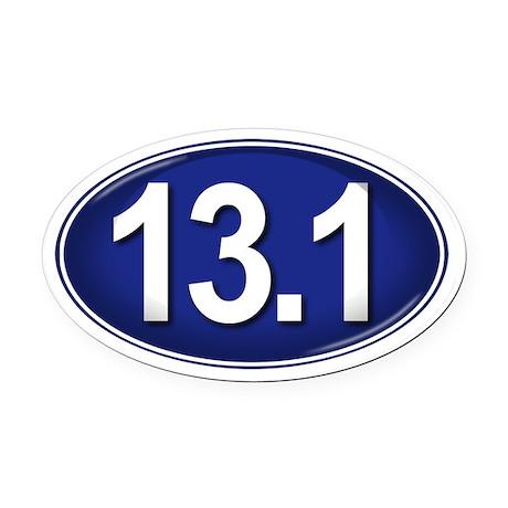 13.1 BLUE Marathon Oval Car Magnet