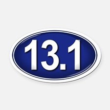 13.1 BLUE Marathon Oval Car Magnet