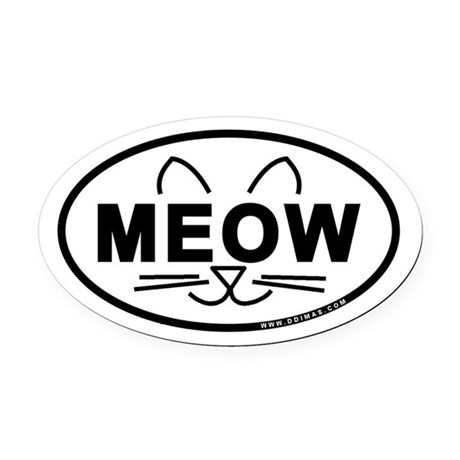 Meow Oval Car Magnet (Oval)