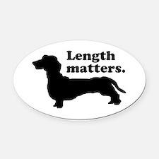 Length Matters Oval Car Magnet