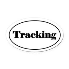 Tracking Oval Car Magnet