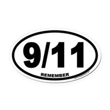 9/11 Euro Oval Car Magnet