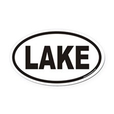 LAKE Euro Oval Car Magnet