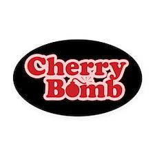 Cherry Bomb Oval Car Magnet