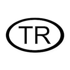 Turkey Car Oval Car Magnet / Decal (Oval)
