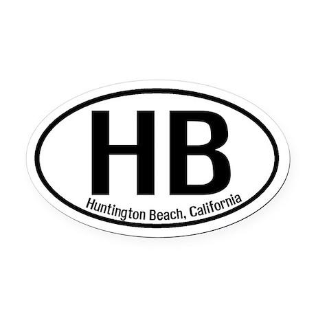 Huntington Beach, California Oval Car Magnet
