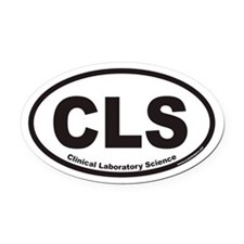 Clinical Laboratory Science CLS Euro Oval Car Magn