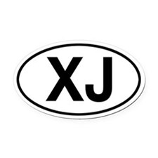 XJ Jeep Cherokee Oval Car Magnet