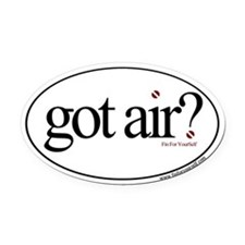 Got Air? Oval Car Magnet