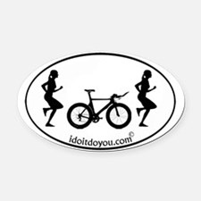 Unique Biking womens Oval Car Magnet