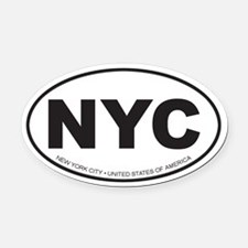 New York City Oval Car Magnet