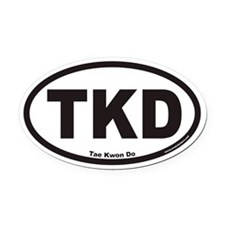 Tae Kwon Do TKD Euro Oval Car Magnet