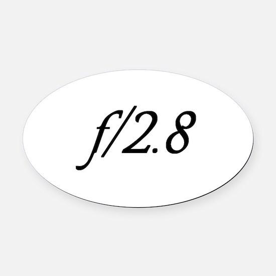 f/2.8 Oval Car Magnet