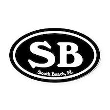 South Beach SB Euro Oval Oval Car Magnet