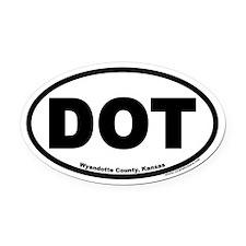 DOT Wyandotte County Kansas Euro Oval Car Magnet