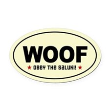 Obey the SALUKI! Oval Car Magnet
