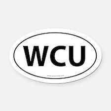WCU Euro Style Oval Car Magnet -White