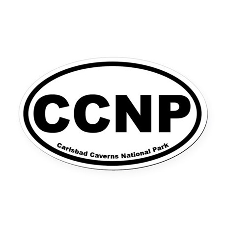 Carlsbad Caverns National Park Oval Car Magnet