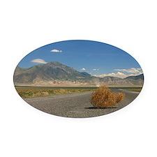 Tumbleweed Oval Car Magnet