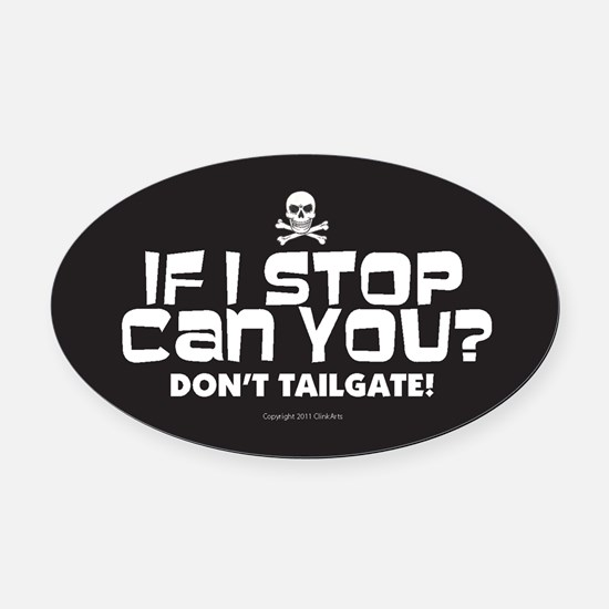 Cute Tailgating Oval Car Magnet