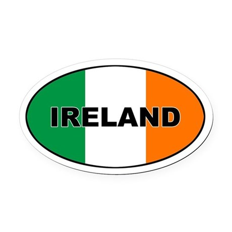Flag of Ireland Oval Car Magnet