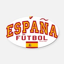 Espana Futbol/Spain Soccer Oval Car Magnet