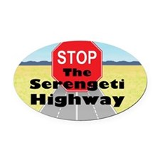 Serengeti Highway Oval Car Magnet