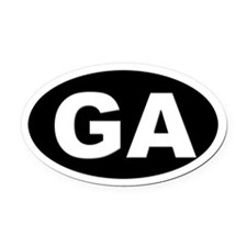 GA (Georgia) Oval Car Magnet