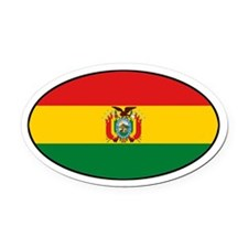 Bolivian Flag Oval Car Magnet