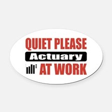 Actuary Work Oval Car Magnet