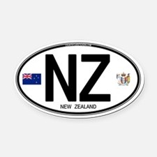 New Zealand Euro Oval Oval Car Magnet