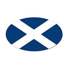Scottish Flag Oval Car Magnet