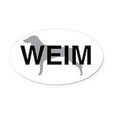 WEIM Oval Car Magnet