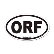 ORF Euro Oval Car Magnet for Norfolk VA Airport