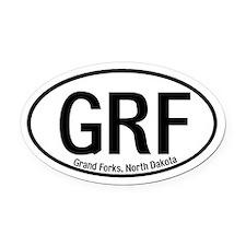 Grand Forks, North Dakota Oval Car Magnet