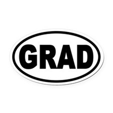 GRAD Euro Style Oval Car Magnet