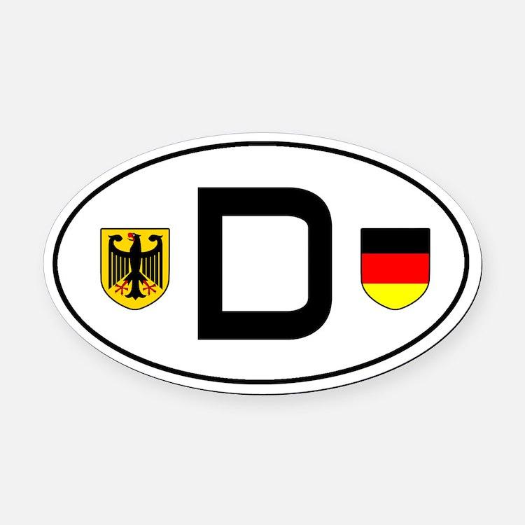 Germany car Oval Car Magnet