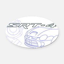 Cute Turbo Oval Car Magnet