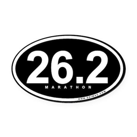 Marathon 26.2 Oval Car Magnet