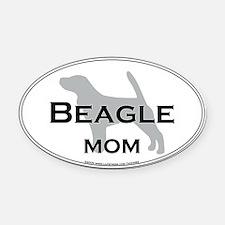 Beagle MOM Oval Car Magnet