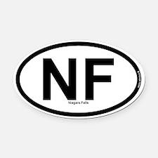 Niagara Falls Oval Car Magnet