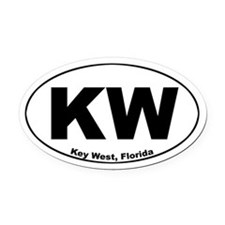 KW (Key West) Oval Car Magnet