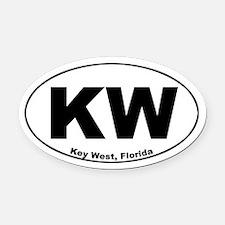 KW (Key West) Oval Car Magnet
