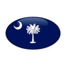 South Carolina Oval Car Magnet