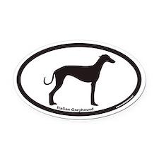 Italian Greyhound Euro Oval Car Magnet