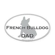 French Bulldog DAD Oval Car Magnet